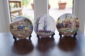 "Wedgwood Danbury Mint Queensware Collectors Plates from ""The Farm Year"" Series"