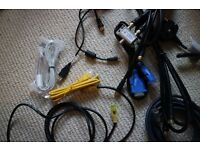 Satellite, TV, Smartphone & Computer Cable - Bunch of Useful in Every House 10 Cables