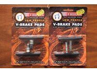 NEW 2x packs of 2x (pair) Fibrax Brake Pads Cantilever RRP £11.99 Per Pack