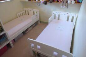 1 X John Lewis toddler bed/1 X John Lewis Spring Mattresses, and waterproof mattress cover