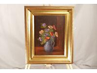 Original oil painting - anemones