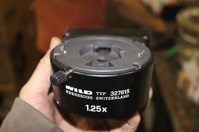 Wild Leica Type 327615 Coaxial Microscope Illuminator 1.25x