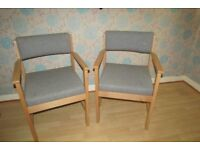 Two Grey Office Chairs, good sturdy quality, clean upholstery