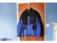 motorcycle jacket , all season gore tex, blue/black hein gericke