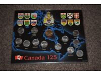 CANADA 1992 125th ANNIVERSARY 13 COIN 25 CENT AND DOLLAR MINT SET - complete