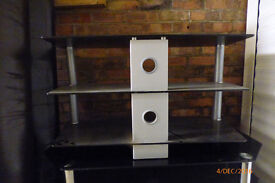 Television stands (2), smoked glass