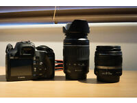 Canon 1000D with Canon 55-200mm and Canon 18-55 lenses