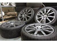 Dynamite wheels 17x7J 5x110 alloy wheels + tyres Vauxhall Saab