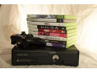 XBOX 360 250GB & 9 GAMES