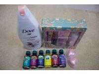 Various bath lotions, fizzers etc.