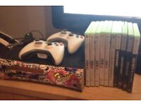 Xbox 360 elite 120gb few games and 2 pads £50