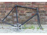 Vintage road bike frame and fork for Fixie/Project