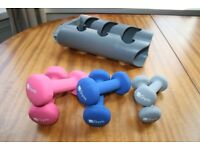New iGym Dumbbell Multi Combo Set 6 Weights With Stand Pink Women Girls Exercise Fitness Gym Cheap