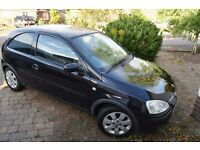 Vauxhall Corsa 2006, 3 door, Low Mileage, Fresh MOT.