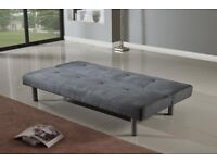 Faux Suede Canterbury Fabric Sofa Bed 3 Seater
