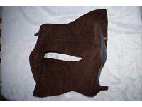 Ladies Evans Brown Suede Knee Length boots Size 10