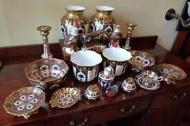 Huge Joblot Collection Royal Crown Derby Candlesticks/Vases/Bowls etc