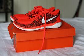 Nike Free 5.0 Print Bright Crimson/Black/White UK9
