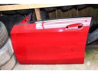 MERCEDES AMG CLA C117 PASSENGER SIDE NS FRONT DOOR PANEL JUPITER RED 589 PARTS