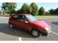 2001 CITROEN SAXO FIRST 1.1 Petrol. One owner from new, 82000 miles, new timing belt ; 12 months MOT