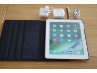 Apple iPad 4 4th Generation 16GB Wi-Fi & Celular unlocked 9.7in A1460 bundle