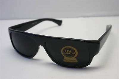 Eazy E BLACK Locs SUPER DARK Car Motorcycle Sunglasses (Black Shades Sunglasses)