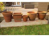 Varied Range of Terracotta Pots Available.
