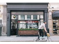 Kitchen assistant in a Speciality coffee cafe