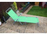 Adjustable sunbed, folding sun lounger
