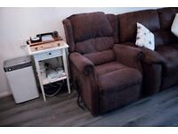 Winchester Riser Recliner Chair (Dual Motor, Chocolate)