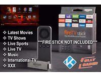 INSTALL ONLY Amazon TV Fire Stick Kodi 16.1 UltraTT - Films TV Sports XXX
