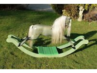 Antique, old F H Ayres rare Bow Rocking Horse for sale