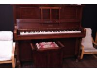 Aeolian Pianola with Beautiful Stool and some QRS Rolls