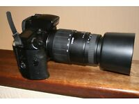 Canon pro SLR Eos 5 with 70-300 macro zoom lens