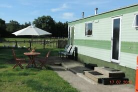 Static caravan in Rural location nr Ripon for short term rent from October