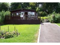 holiday chalet in builth wells , close to the river with fishing available