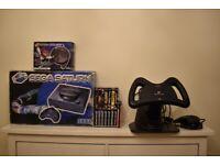 Sega Saturn Console Boxed + 11 Games + Steering Wheel + Analog Nights Into Dreams Pad Boxed
