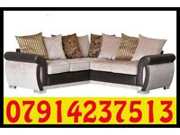 THIS WEEK SPECIAL OFFER FOR SOFA BRAND NEW BLACK & GREY OR BROWN & BEIGE HELIX SOFA SET 3479
