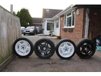 BMW E36 M3 EVO MOTORSPORT ALLOY WHEELS WITH TYRES 5x120 17""