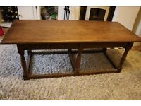 Dark wood coffee table - only £20 (would be great painted)