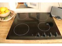 Zanussi ZVM640F - Frameless 60cm 4.2 kw Ceramic Hob in Black