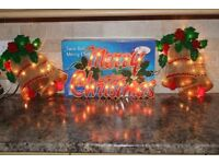 illuminated Window Christmas Decorations Twin Bell's Indoor Lights & Candle Bridge