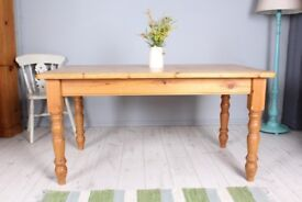 DELIVERY OPTIONS - LOVELY 5 FT OLD RUSTIC FARMHOUSE PINE TABLE WAXED FINISH