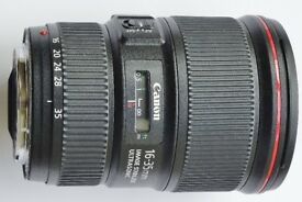 Canon EF 16-35 F4L IS wide angle lens
