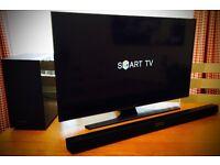 40in SAMSUNG UHD (4K) SMART TV -WIFI- FREEVIEW HD + SAMSUNG 290w 2.1 - WIRELESS BLUETOOTH SOUNDBAR