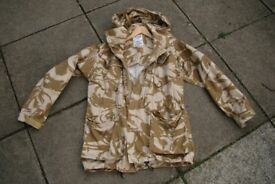 British Army CS95 Desert Field Jacket And Detachable Hood 180/104 (size Large)