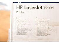 HP Laserjet P2035 Monochrome Laser Printer as-new condition