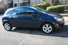 Corsa 1.4 SXi 2012 in stunning metallic blue with full service history, new MOT and warranty