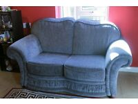 2 Seater Sofa - Blue Steel