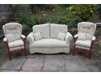 Drop End Sofa with 2 Armchairs
